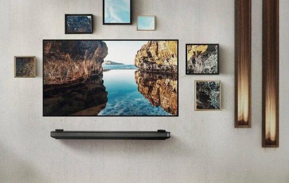 تلویزیون ال جی سری w به نازکی یک کاغذ دیواری